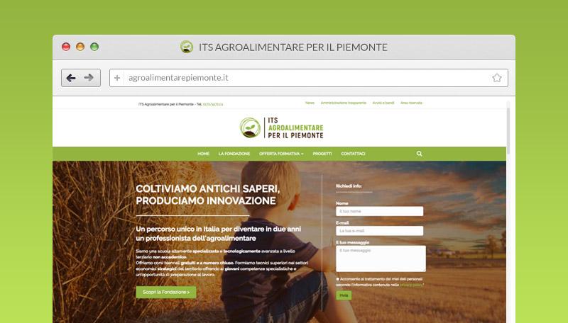 Nuovo sito - ITS Agroalimentare per il Piemonte - Restyling a cura di Tre W s.c. Orbassano