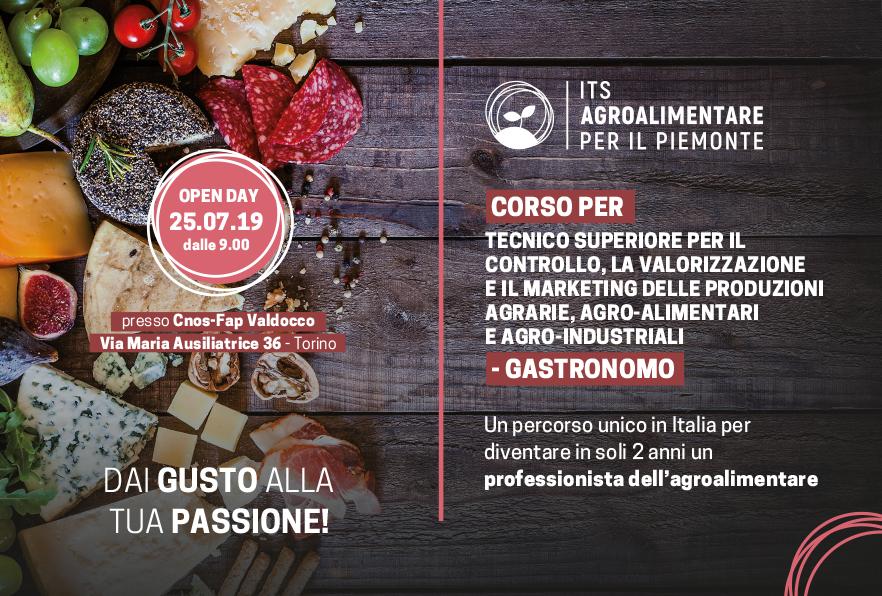 Open Day Gastronomo 25 luglio 2019 - Torino - Its agroalimentare per il Piemonte