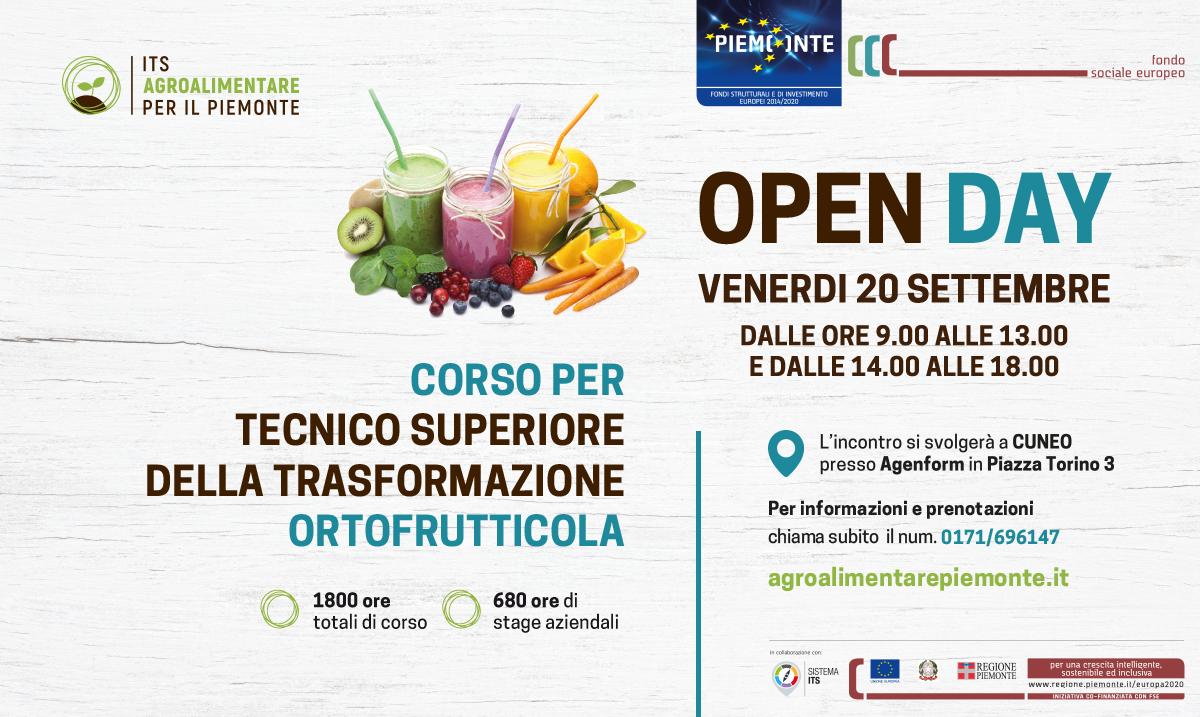 Open Day Trasformazione Ortofrutticola - ITS Agroalimentare per il Piemonte