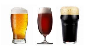 Birra chiara ambrata e scura - abbinamenti